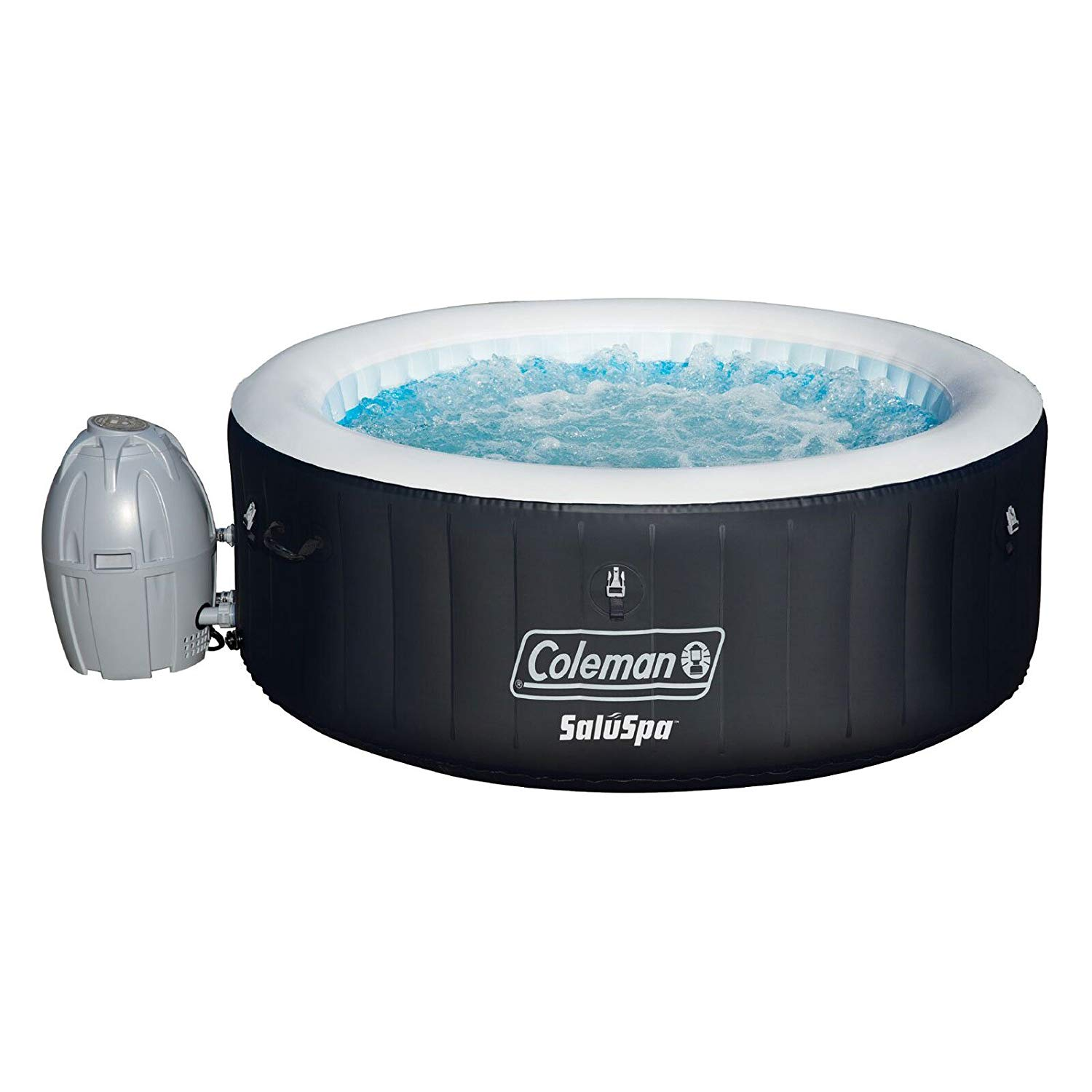 Coleman 71 X 26 inches portable inflatable spa 4-person hot Tub, black,13804