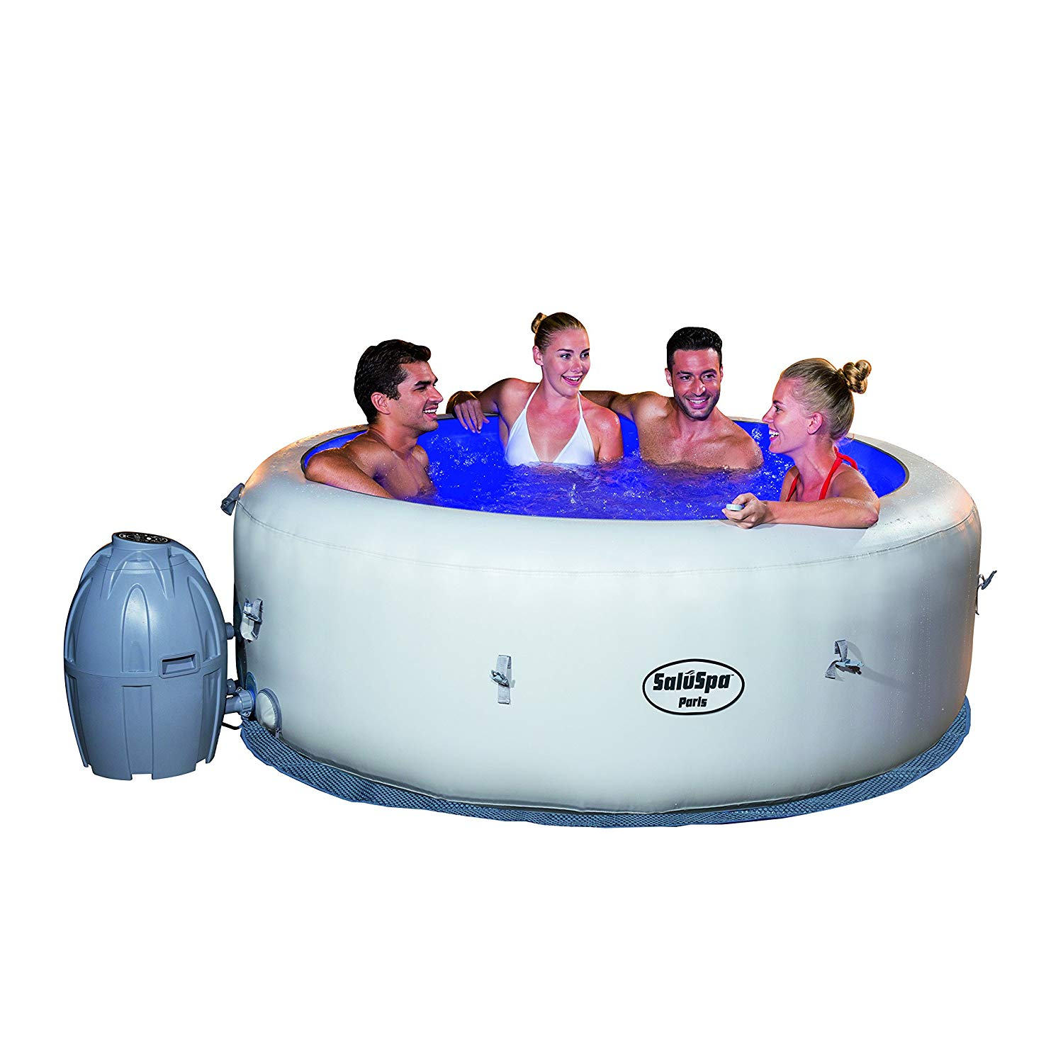 Bestway saluspa Paris air jet inflatable hot tub w/LED light show
