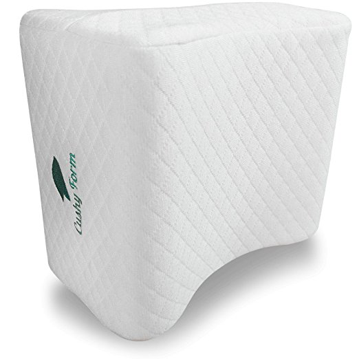 Cushy form sciatic nerve, leg, back and spine alignment – memory foam Orthopaedic leg pillow wedge with washable cover + free storage bag