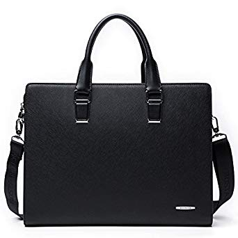 BOSTANTEN Formal Leather Briefcase Shoulder Laptop Business Bag for Men