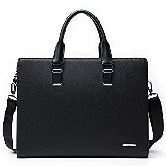 BOSTANTEN Formal Leather Briefcase Shoulder Laptop Business Bag for Men