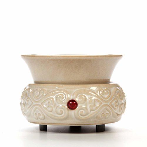 Hosley Hosley's Cream Ceramic Fragrance Candle Wax Warmer