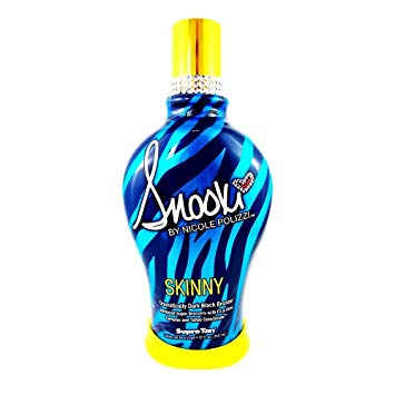 SNOOKI SKINNY DARK BLACK BRONZER FIRMING INDOOR TANNING BED LOTION SUPRE, 12 oz