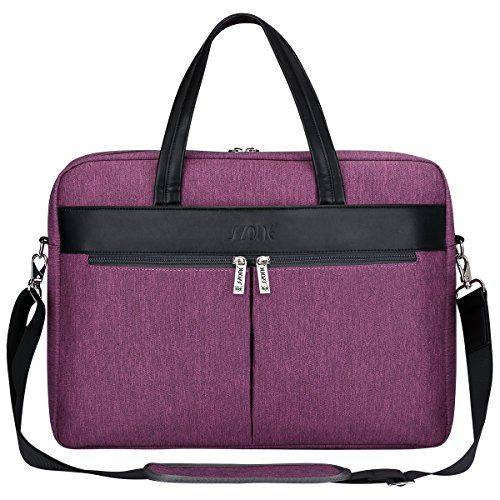 S-ZONE Laptop Tote Bag for Women 15.6 inch Large Business Work Bag Shoulder Briefcase Handbag-Women business leather bags