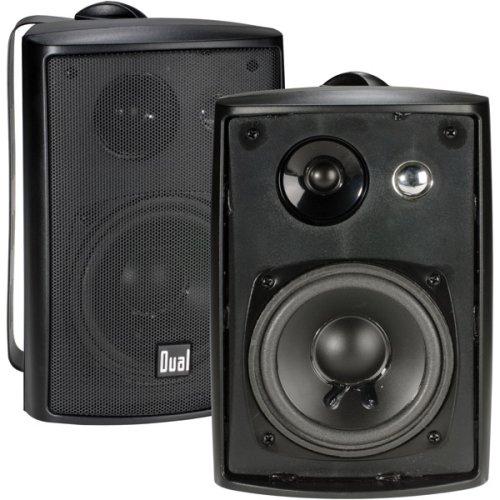 Dual Electronics LU43PB 4 inch 3-Way High Performance Indoor, Outdoor & Bookshelf Studio Monitor Speakers with Swivel Brackets & 100 Watts Peak Power (Sold in Pairs)