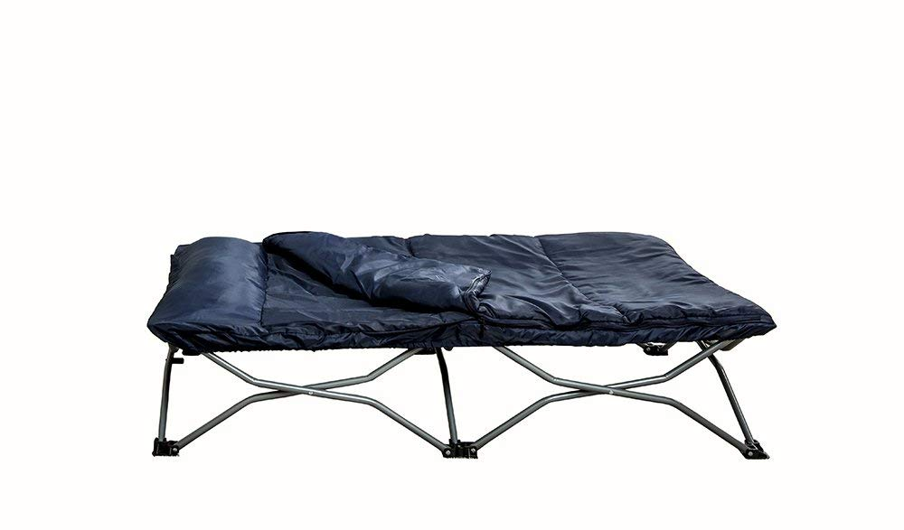 Regalo My Cot Portable Toddler Bed, Includes Sleeping Bag and Travel Case, Navy