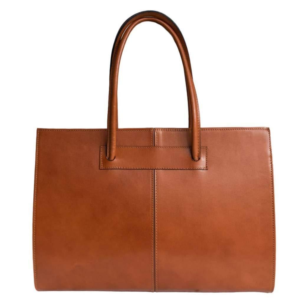 Womens leather business bag/ laptop bag/ briefcase/carelli Italia Roma orange brown