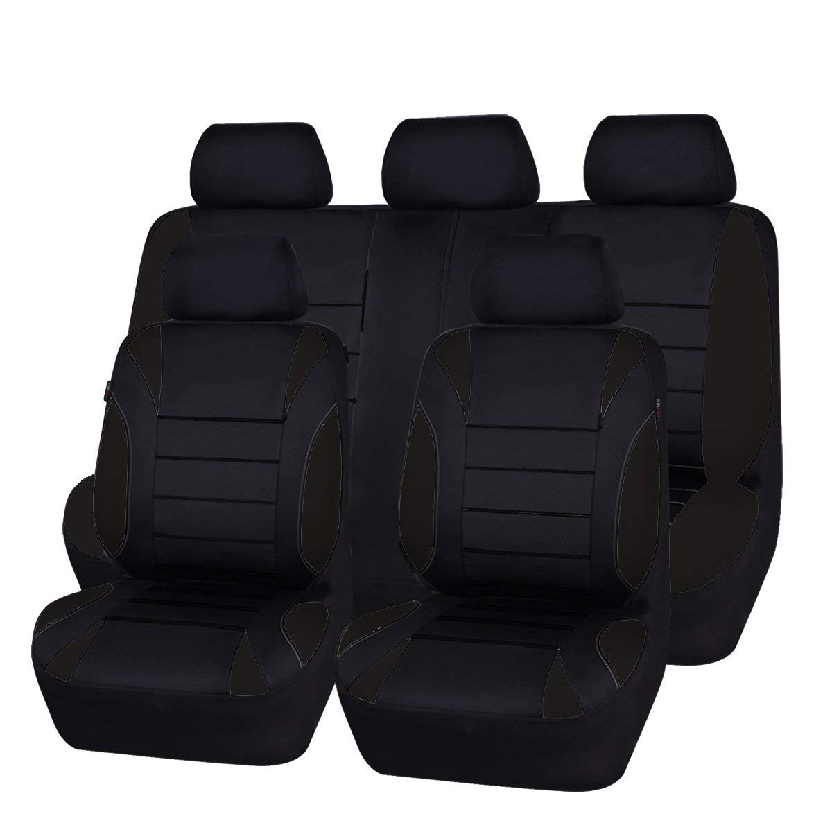 CAR PASS NEW ARRIVAL Waterproof Neoprene 11 Piece Universal Fit Car Seat Cover