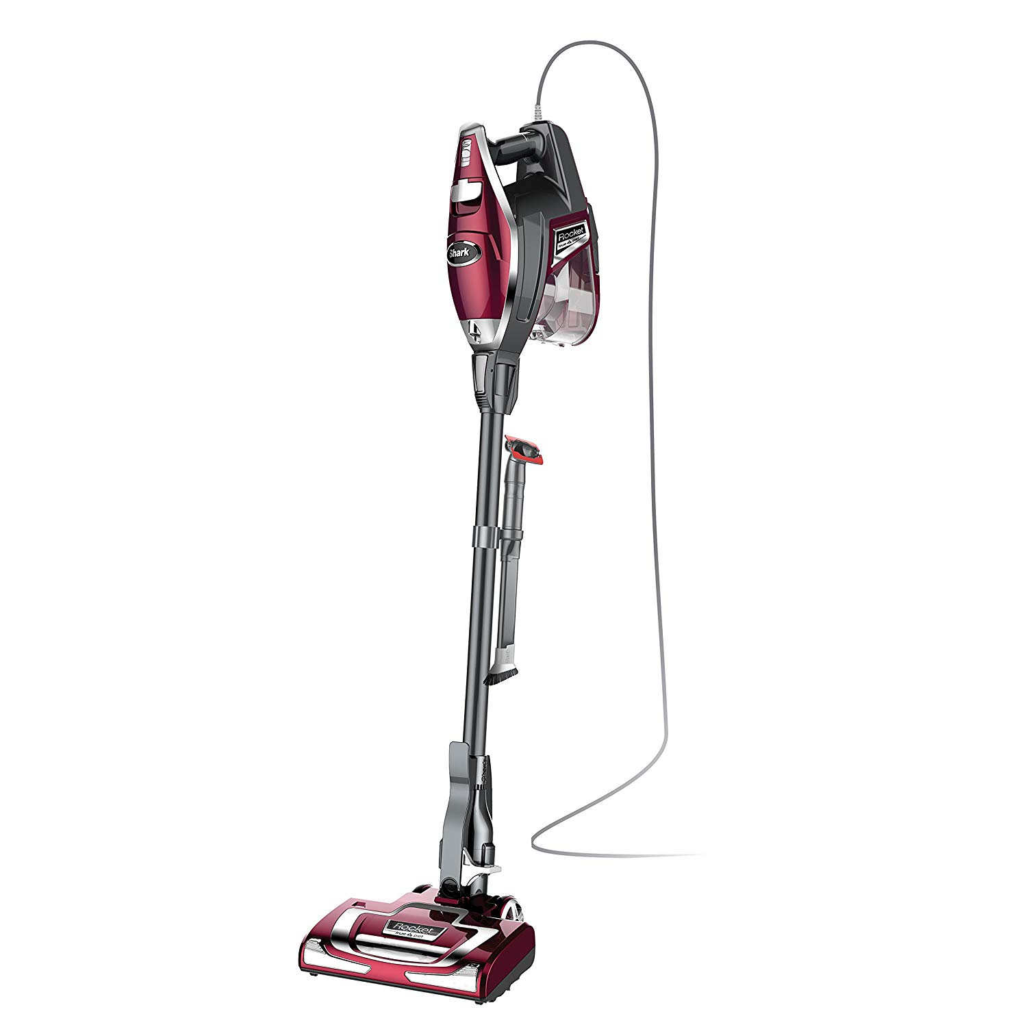 Shark rocket true pet ultra-light corded Bag less vacuum converts to hand vacuum with pet tool and hard floor hero attachment (HV322), red