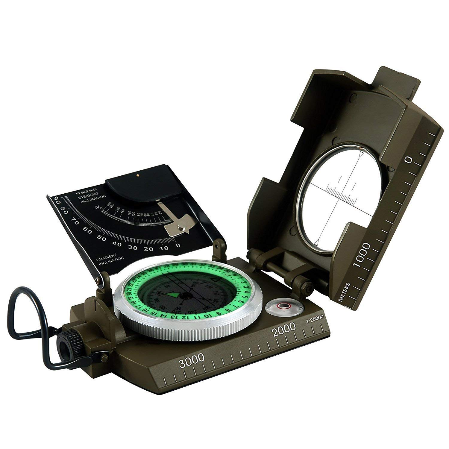 Eyeskey Waterproof multifunctional Military Aluminum Alloy Compass