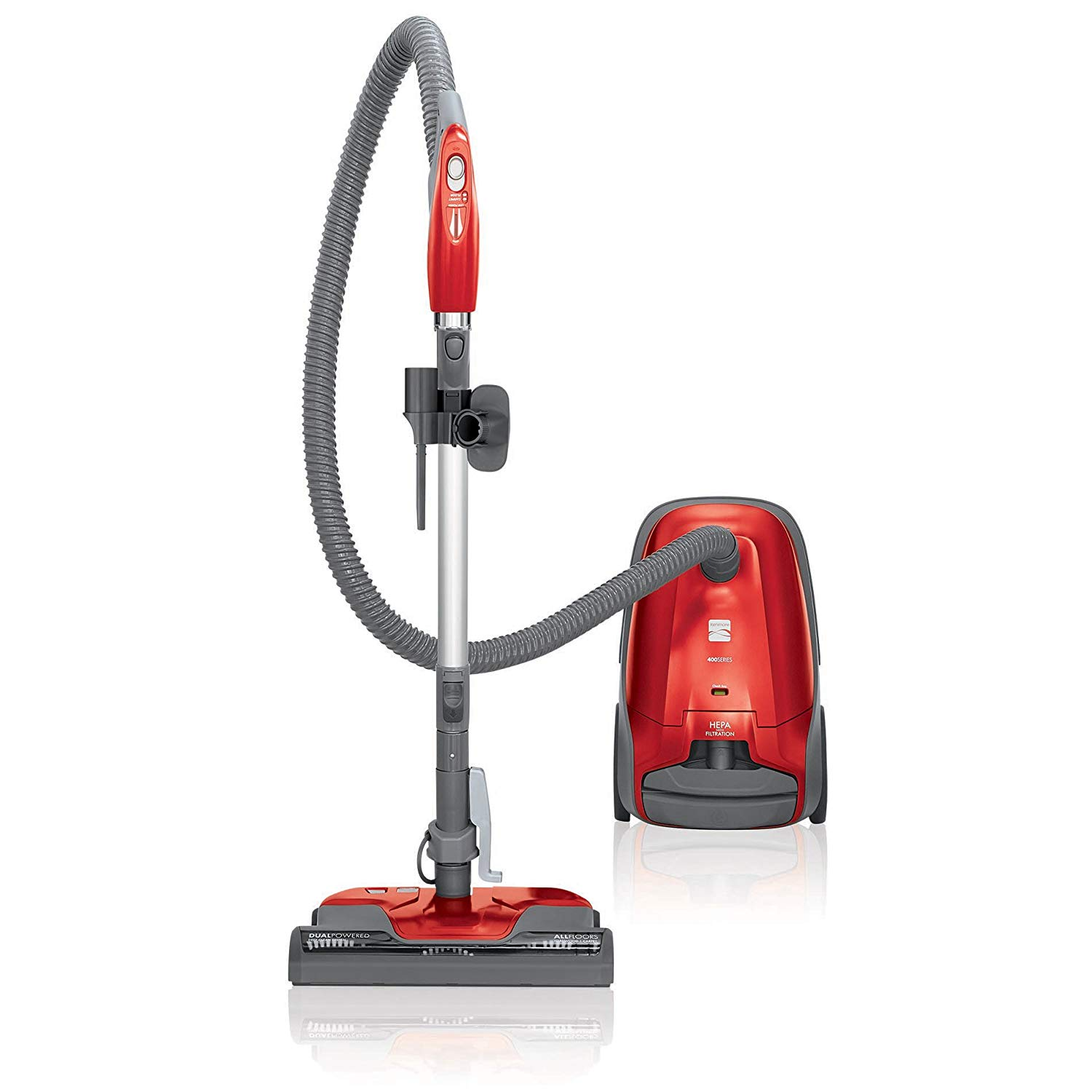 Kenmore 81414 400 series bagged canister vacuum cleaner in red