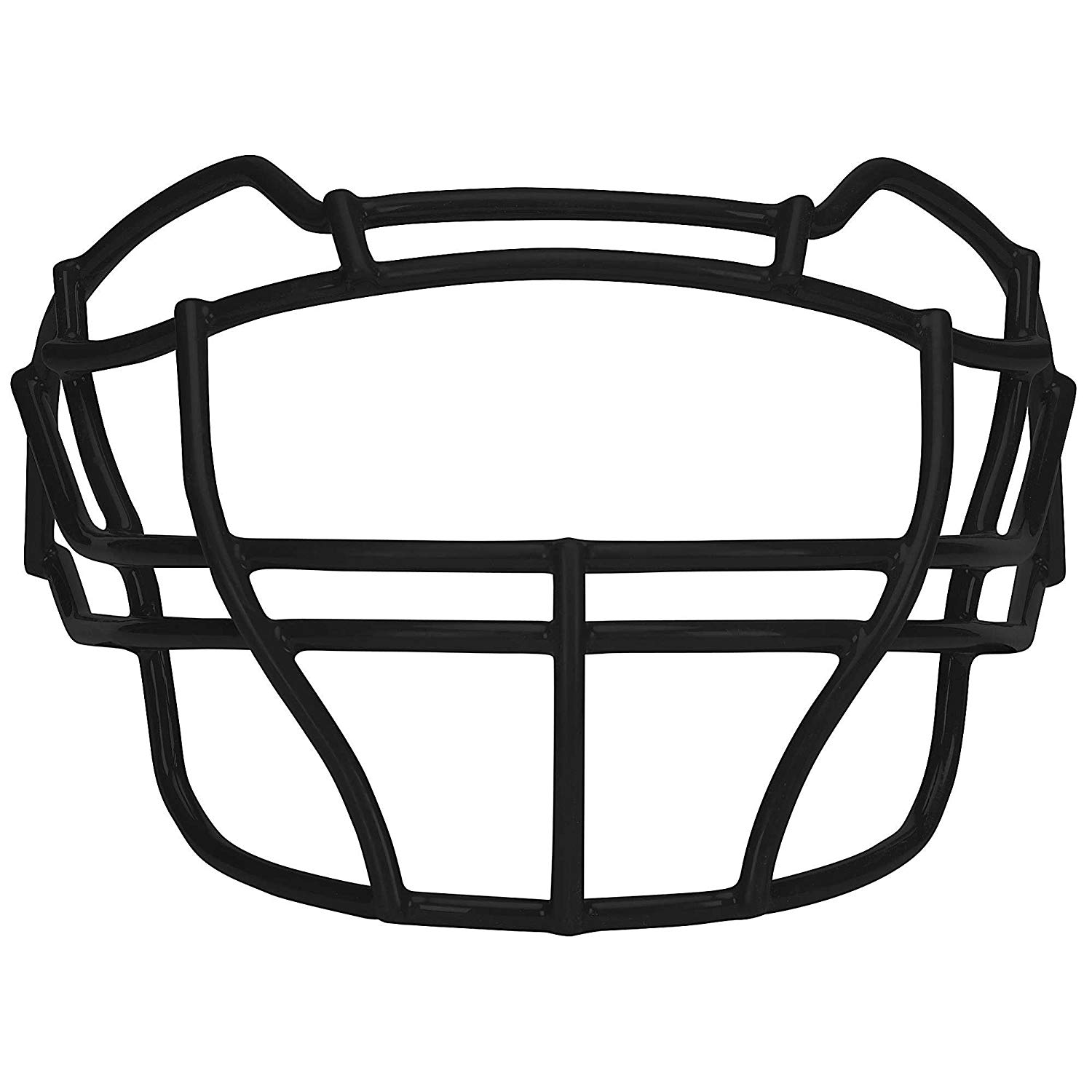 Carbon Steel Football Faceguard, White- Schutt Sports - Football Masks