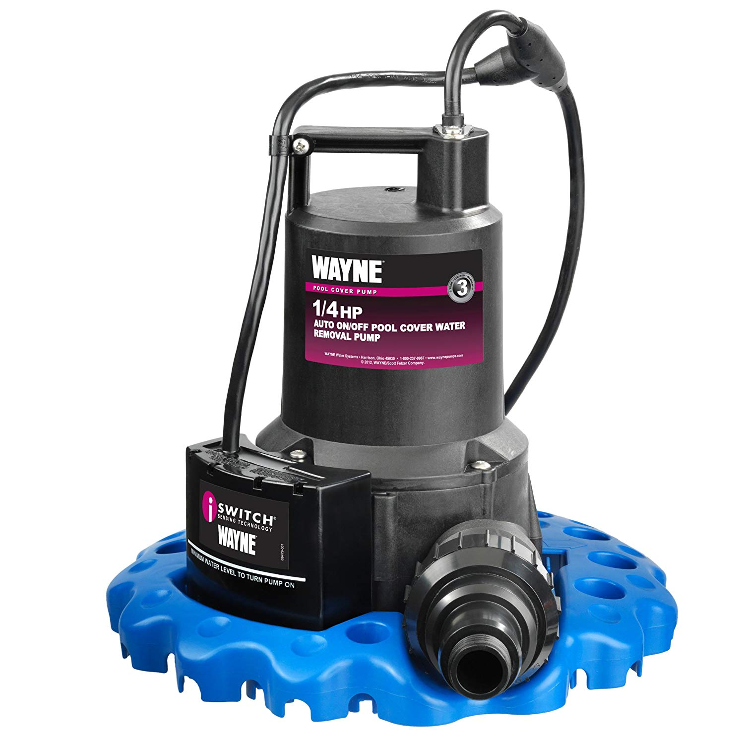 WAYNE WAPC250 1/4 HP Automatic ON/OFF Water Removal Pool Cover Pump