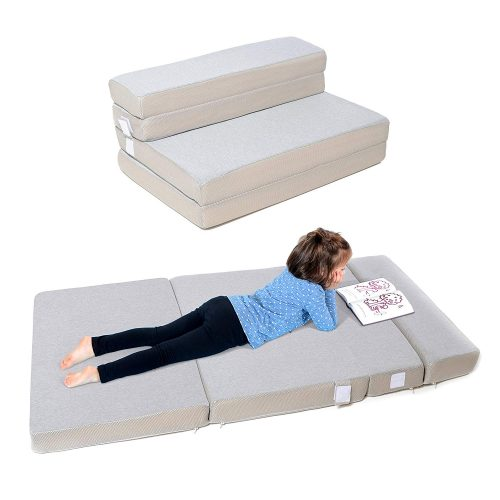 Milliard Toddler Nap Mat Sofa Bed, Tri Folding Mattress, Travel Foldable Foam Couch Sleeper - Adult Quality in Kid Size! (Crib Size 28 x 53 x 2.5 inches)