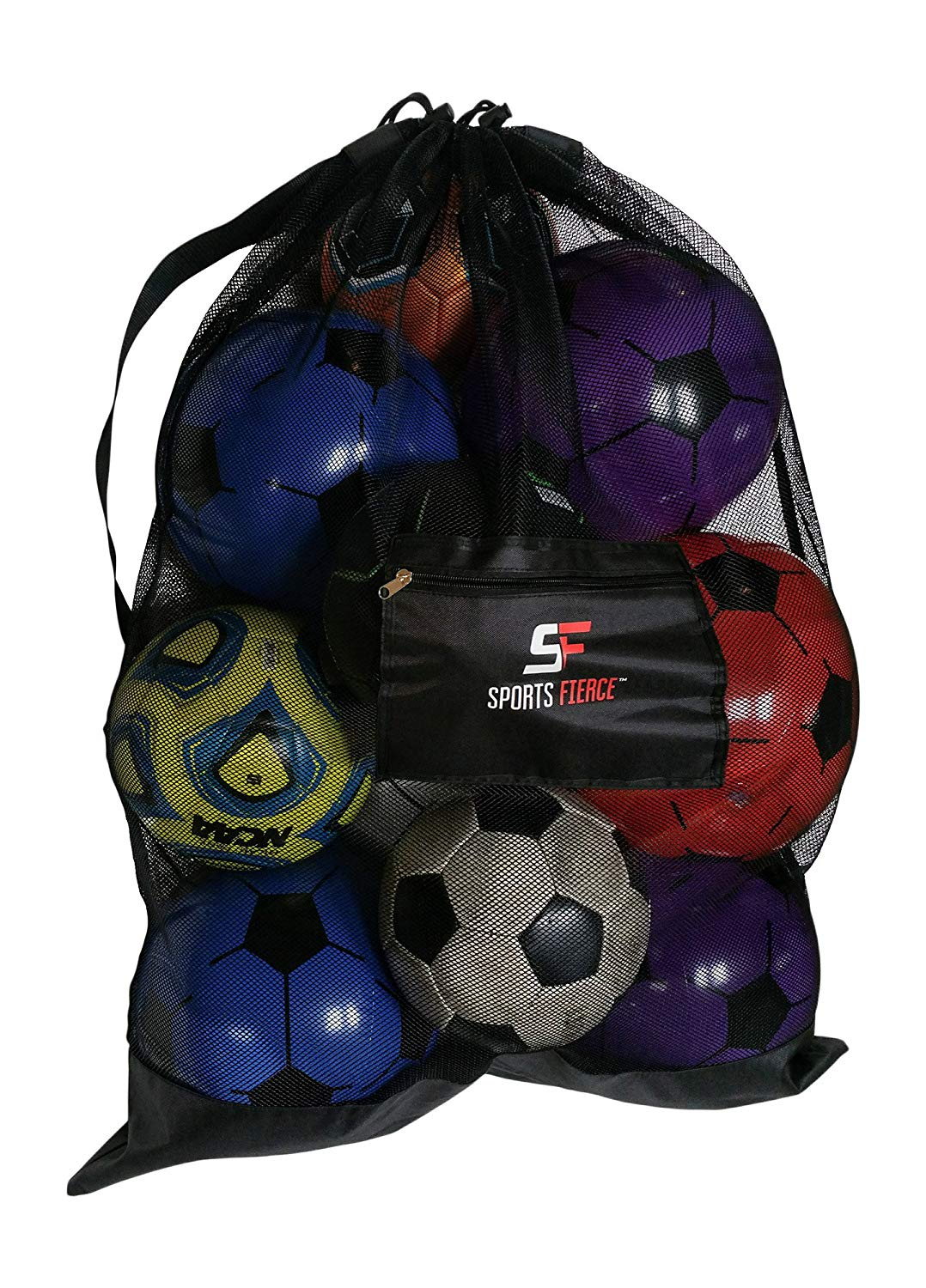 Exter-large soccer ball bag heavy duty sports mesh bag