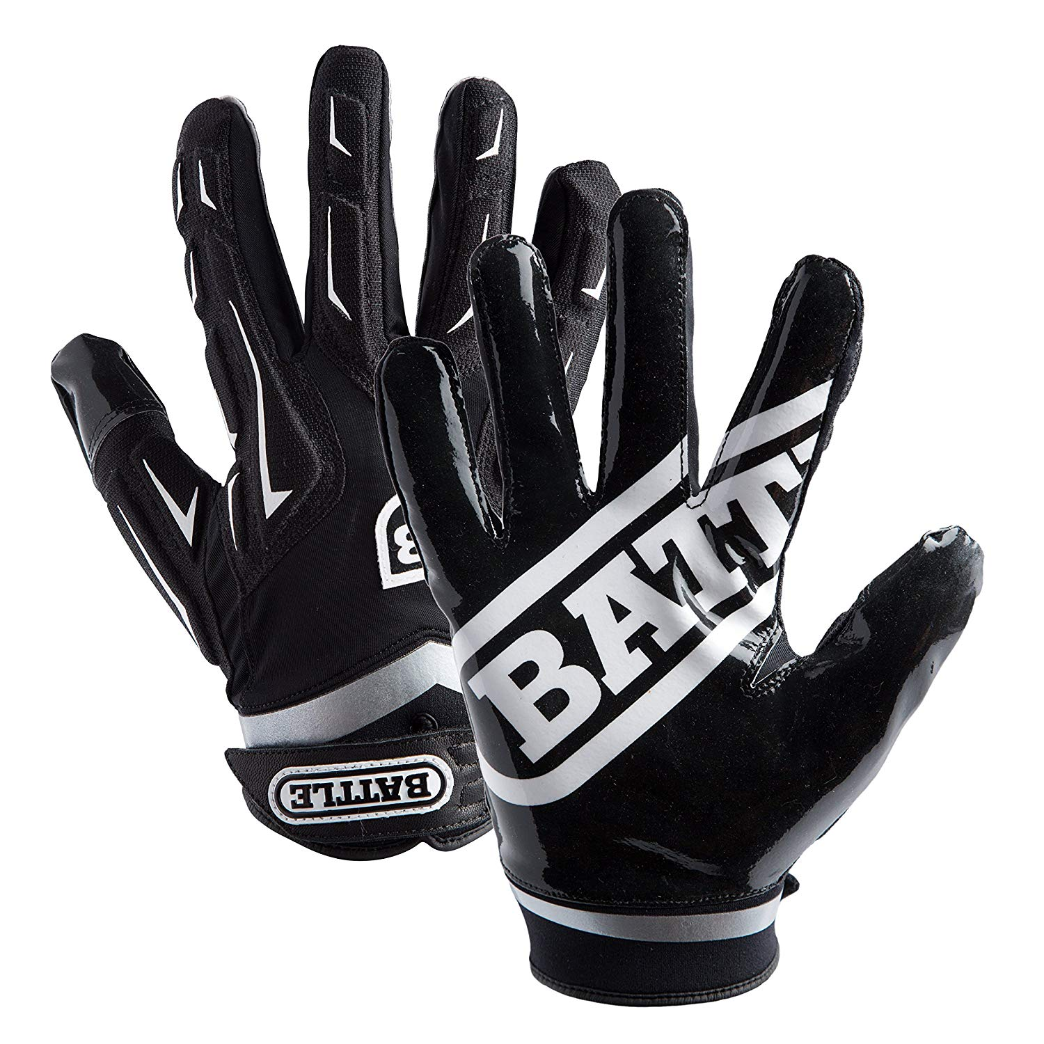 Battle Adult Hybrid Gloves, Black, Medium