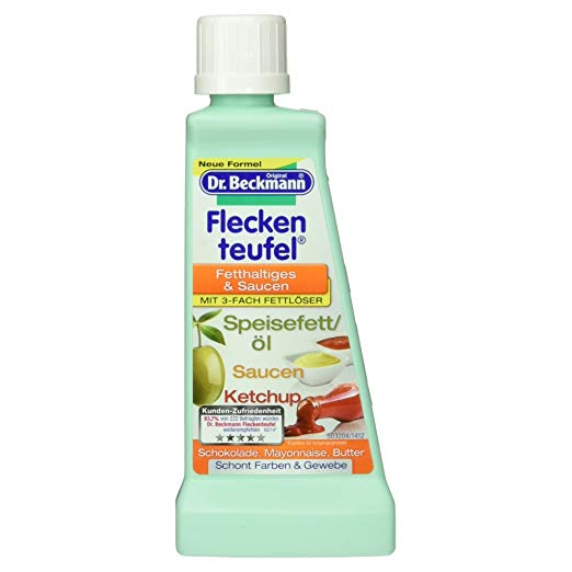 DR. BECKMANN Stain Devil: Fat, Oil & Sauces/Ketchup remover (50ml / 1.7fl oz Bottle) - Beckmann stain removers