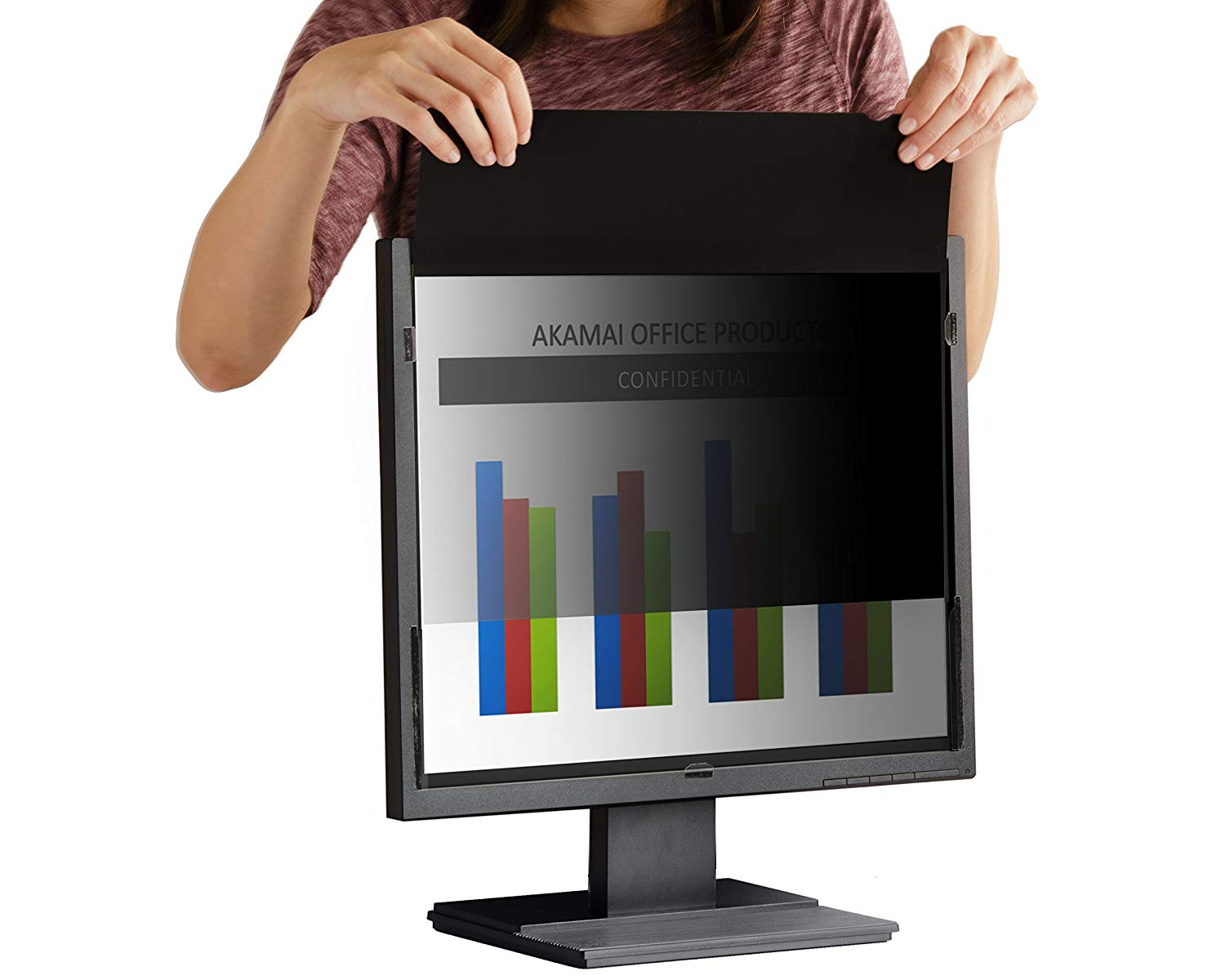 Akamai Office Products 17.0 Inch (Diagonally Measured) SQUARE Privacy Screen Filter for Computer Monitors-Anti Glare (AP17.0)-Please Measure Carefully