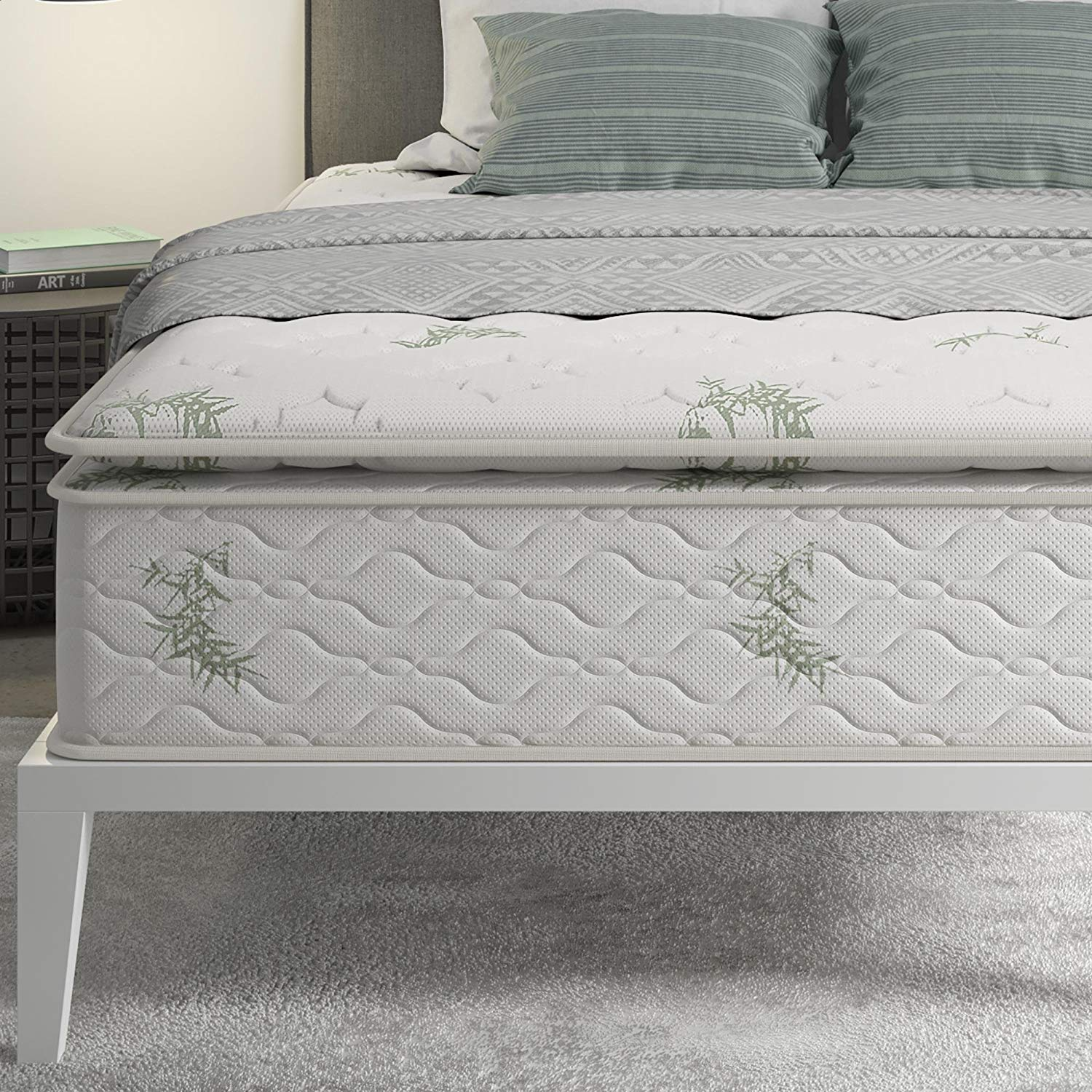 Signature Sleep 13 inch Pillow-Top Independently Encased Coil Mattress for Added Comfort, Full