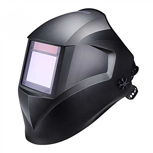"""Pro Welding Helmet with Highest Optical Class (1/1/1/1), Larger Viewing Area(3.94""""x2.87""""), Wide Shade Range DIN 3/4-8/9-13, 6Pcs Replacement Lenses, Grinding Feature for TIG MIG MMA Plasma - PAH03D"""