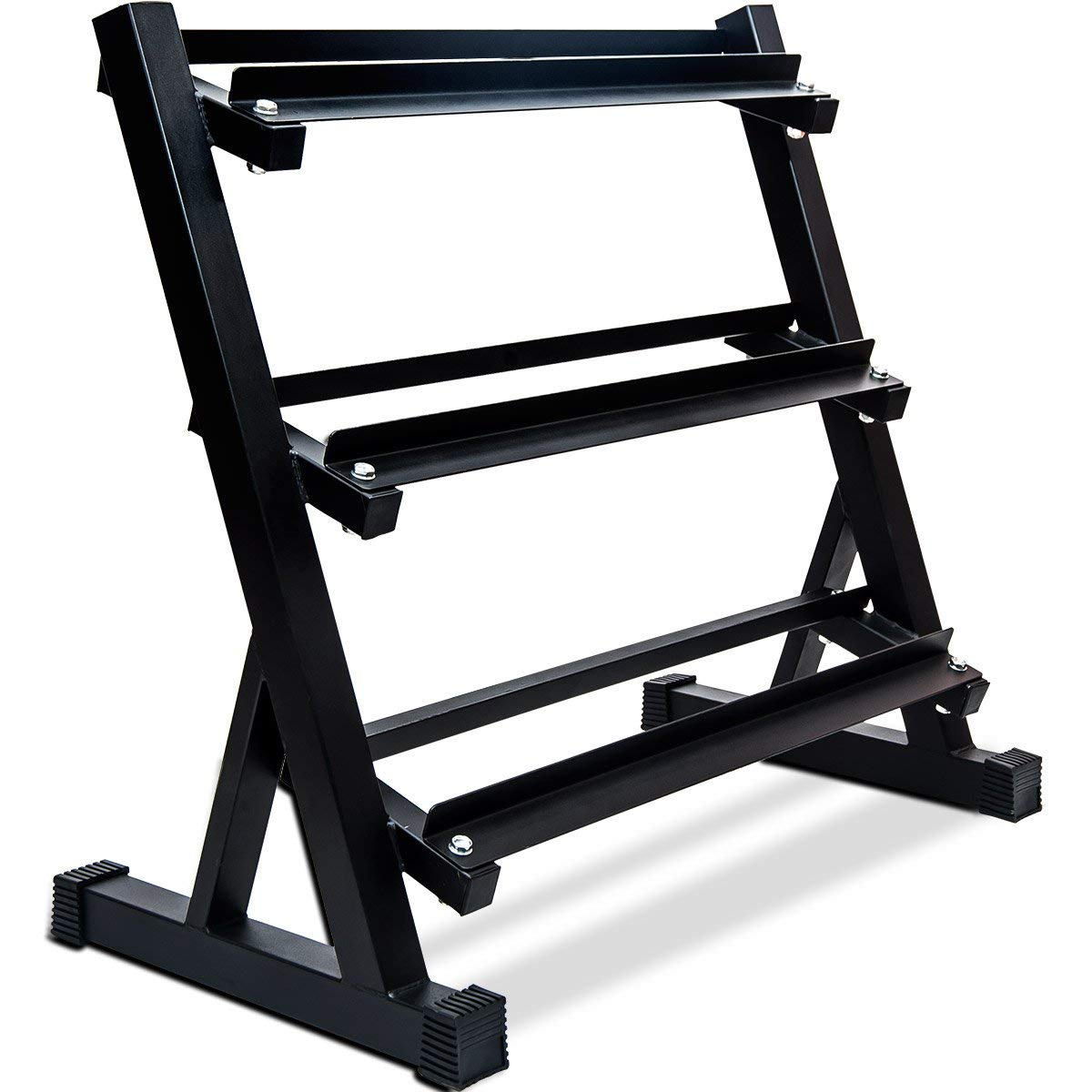 Merax 3 Tier Heavy-Duty Dumbbell Rack 800 LBS Weight Capacity