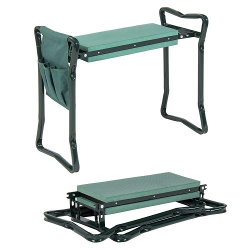 Garden Kneeler And Seat - Protects Your Knees, Clothes From Dirt & Grass Stains - Foldable Stool For Ease Of Storage - EVA Foam Pad - Sturdy and Lightweight - Bench Comes With A Free Tool Pouch!