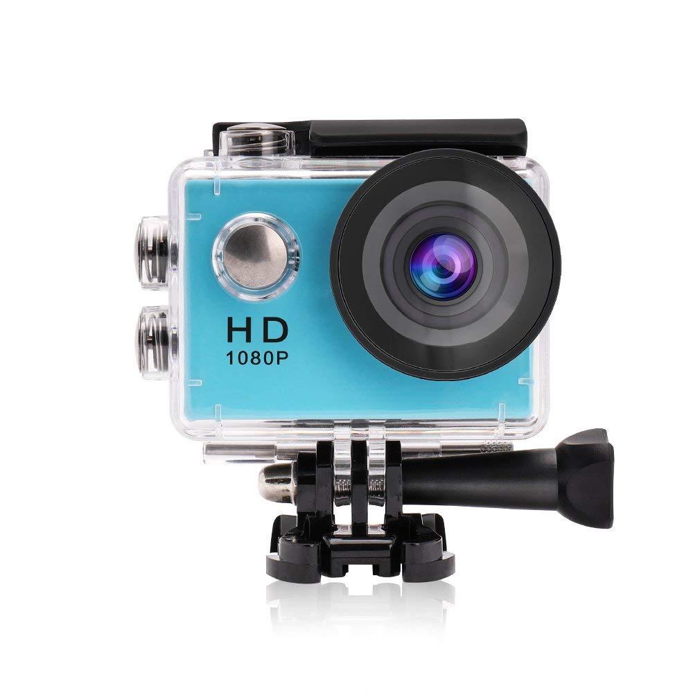 Yuntab 1080P Action Camera (Blue)