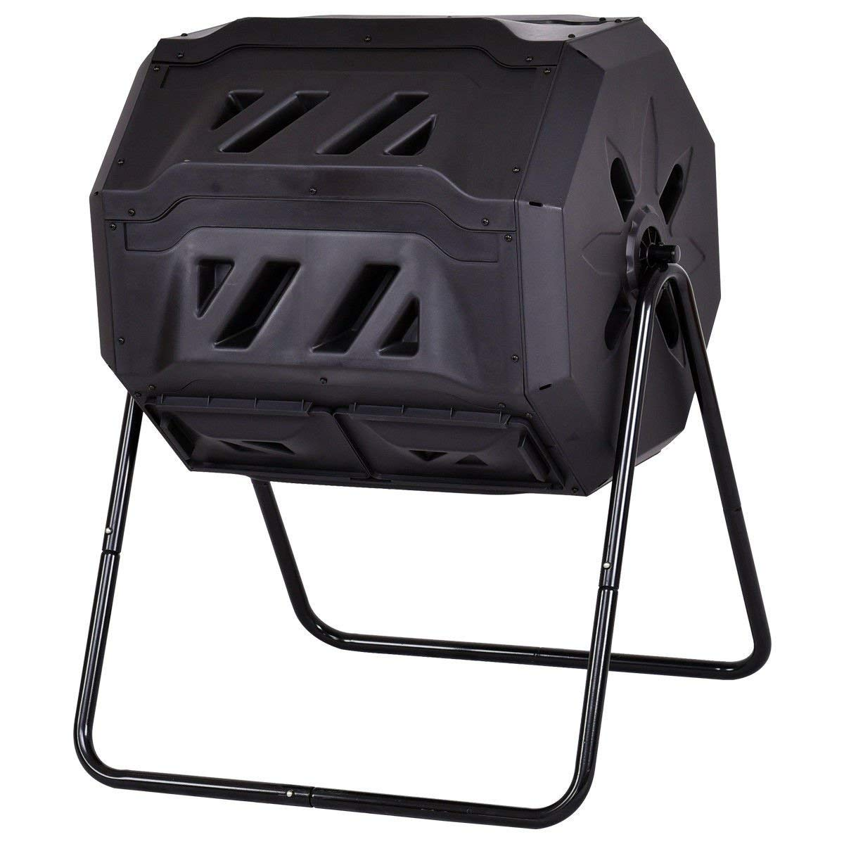 Goplus Twin Chamber Compost Tumbler 42-Gallon