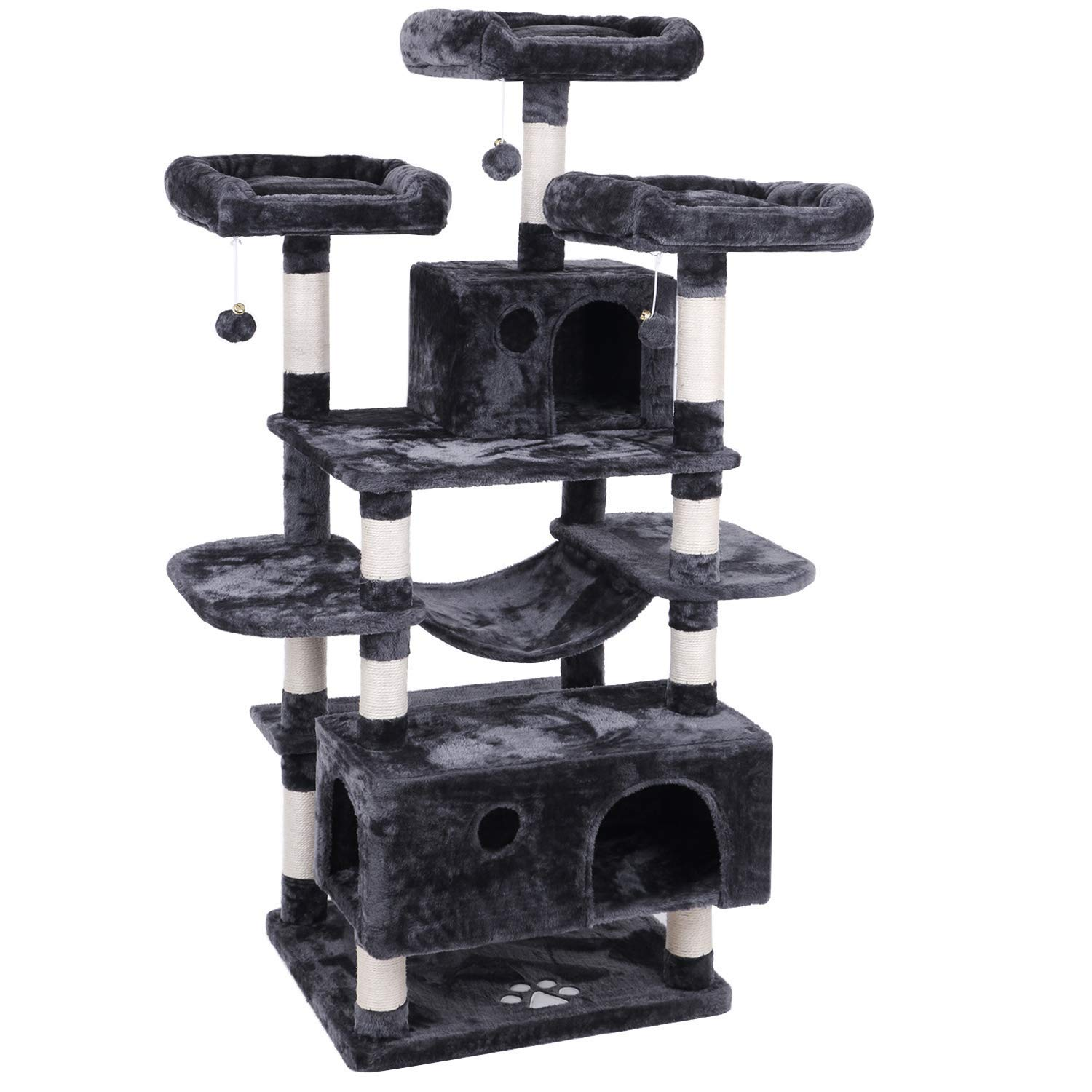 BEWISHOME Cat Tree Condo Furniture Kitten Activity Tower