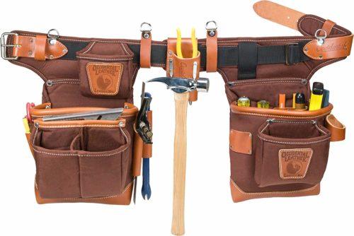 Occidental Leather 9855 Adjust-to-Fit Fat Lip Tool Bag Set - Carpenter tool belt