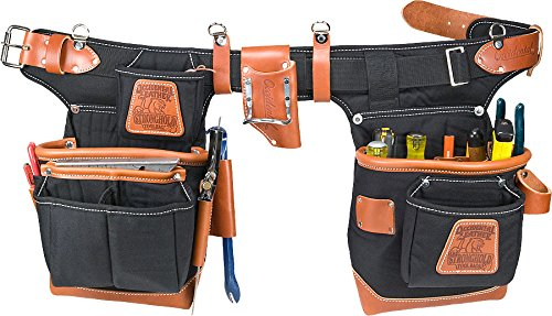 Occidental Leather 9850 Adjust-to-Fit Fat Lip Tool Bag Set - Black - Carpenters Tool Belt