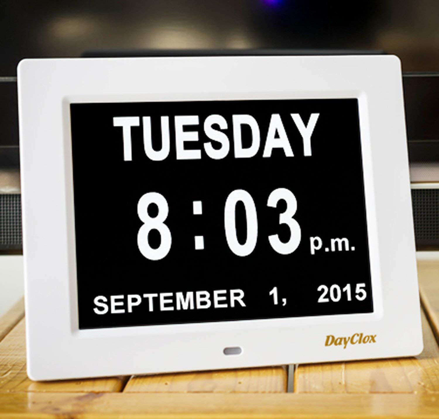 DayClox The Original Memory Loss Digital Calendar Day Clock with Extra Large Non-Abbreviated Day & Month. Perfect for Seniors