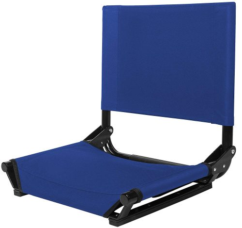 Cascade Mountain Tech Portable Extra Wide Folding Steel Stadium Seats for Bleachers