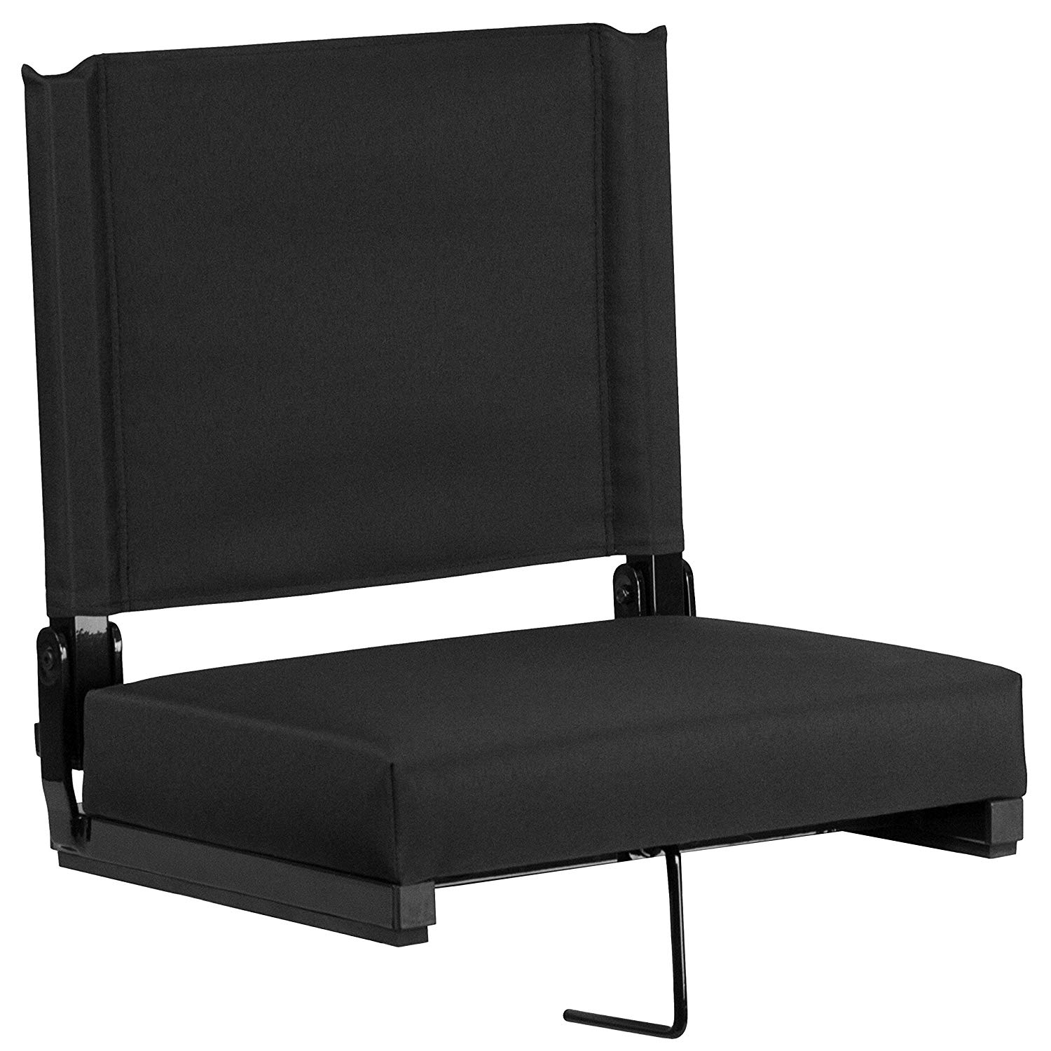 Flash Furniture Grandstand Comfort Seats by Flash with Ultra-Padded Seat in Black- Bleacher Stadium Seats