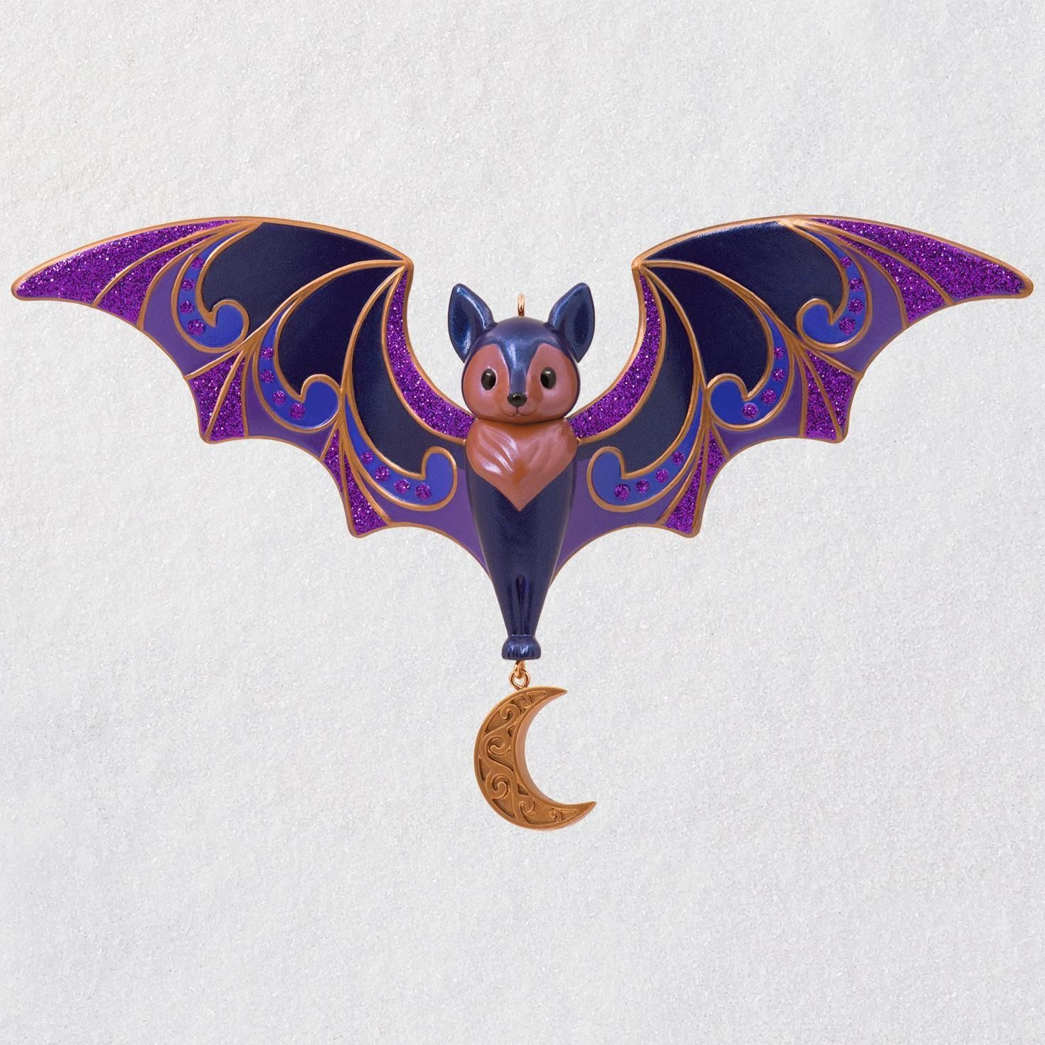 Bewitching Bat Halloween Ornament