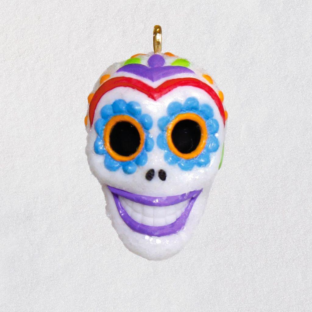 Mini Sugar Skull Guy Halloween Ornament