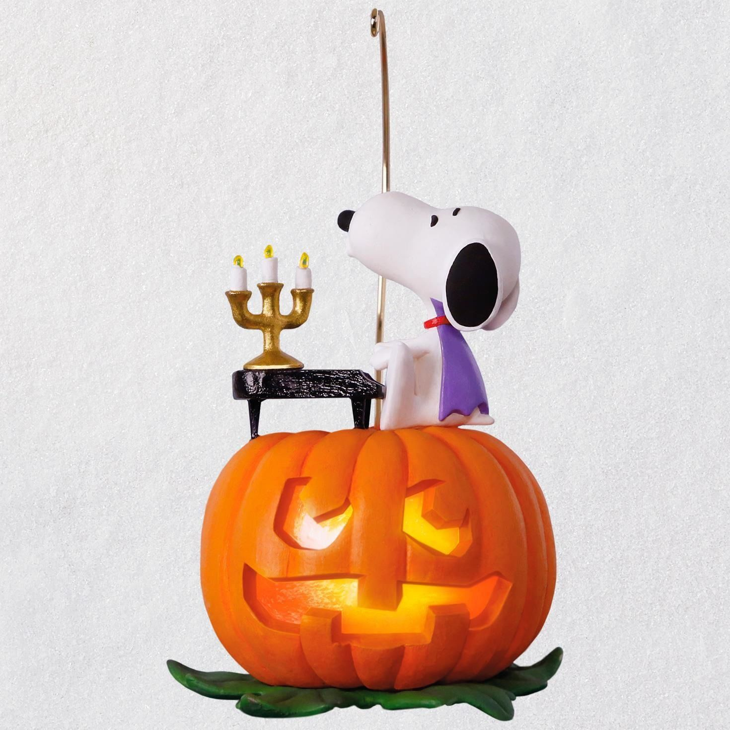 The Peanuts Gang Spooky Snoopy Musical Halloween Ornament with Light
