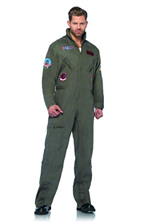 Leg Avenue Top Gun Men's Flight Suit Adult Costume - Halloween Costume For Men
