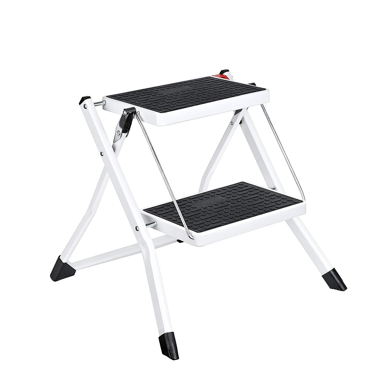 Pleasant Ladders Vonhaus 3 Step Ladder Stool Heavy Duty Steel Folding Short Links Chair Design For Home Short Linksinfo