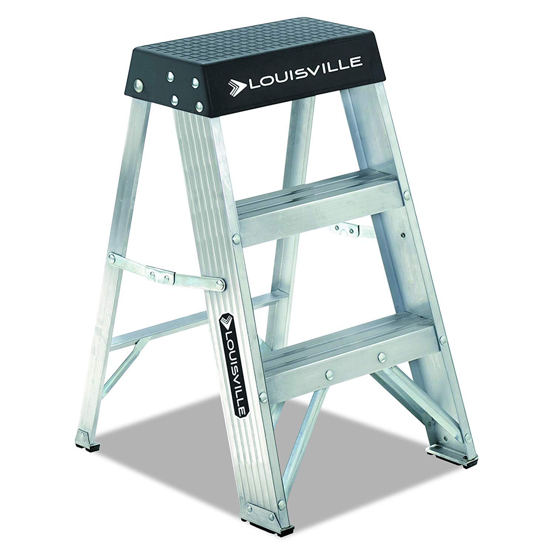 Louisville Ladder AS3002, Aluminum Stepladder, 300-Pound Capacity, 2-Foot