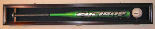 Baseball Bat Display Case Wall Mount Cabinet, Solid Wood, UV Protection