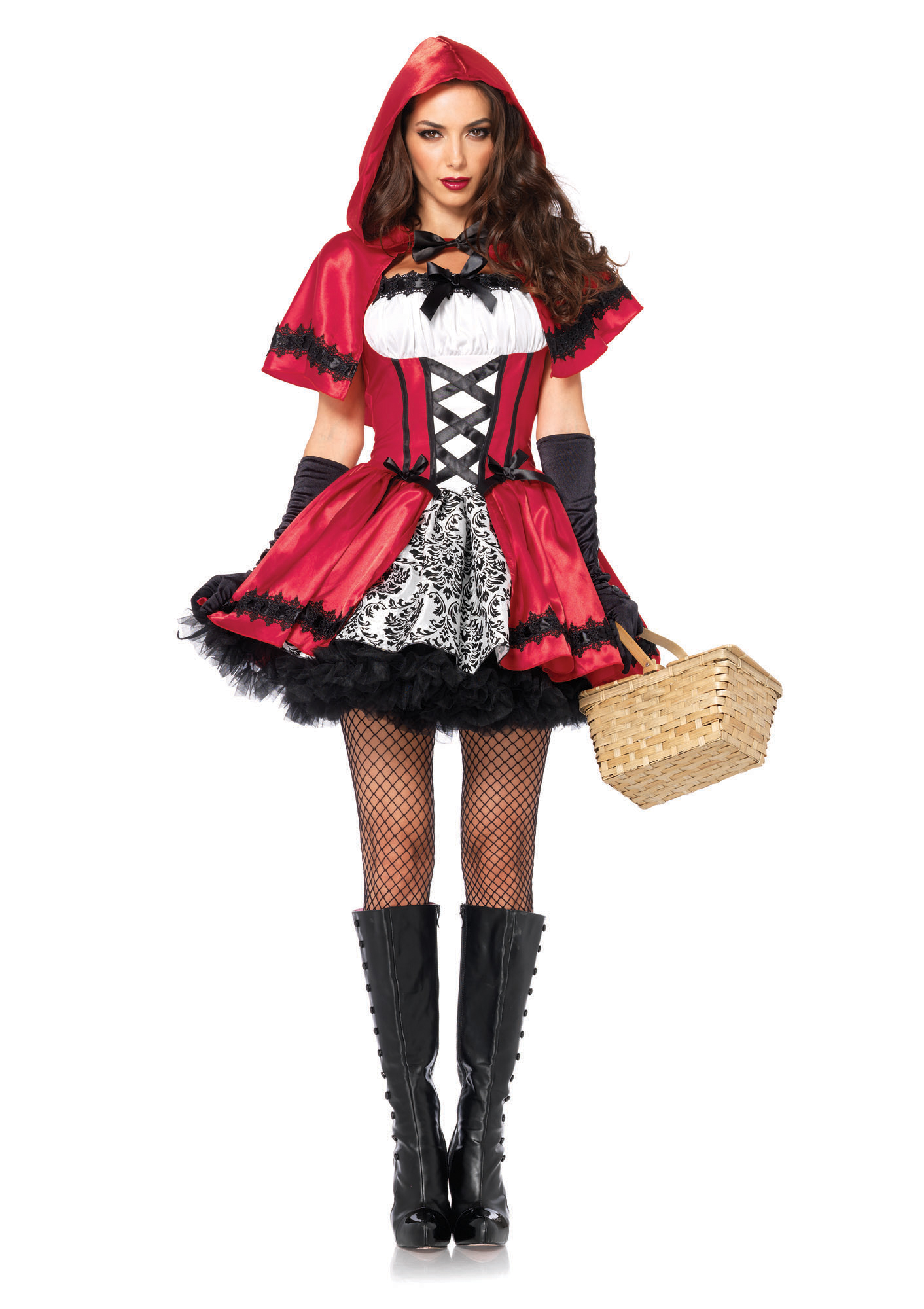 Leg Avenue Women's 2 Piece Gothic Red Riding Hood - Halloween Costumes for Women