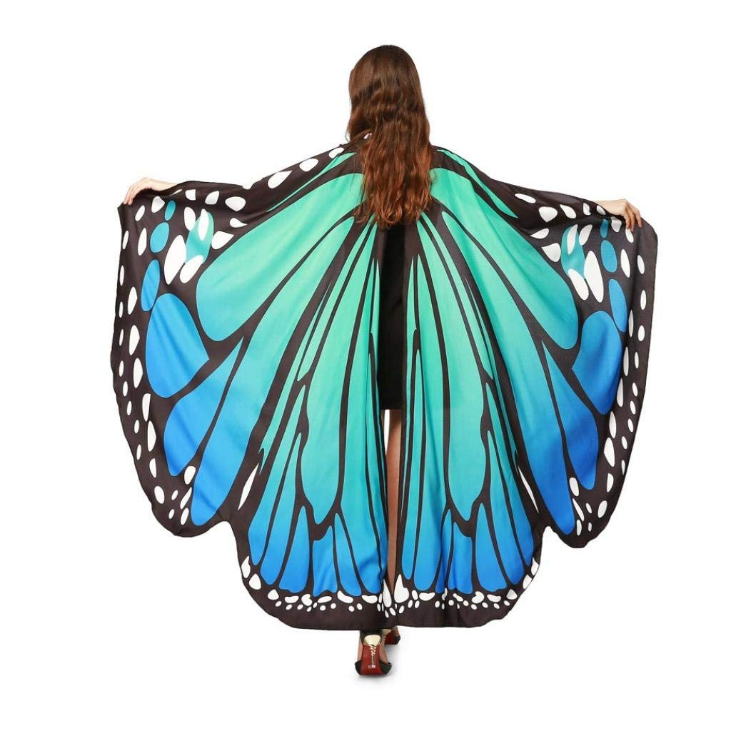 Halloween Party Soft Fabric Butterfly Wings Shawl Fairy Ladies Nymph Pixie Costume - Halloween Costumes for Women