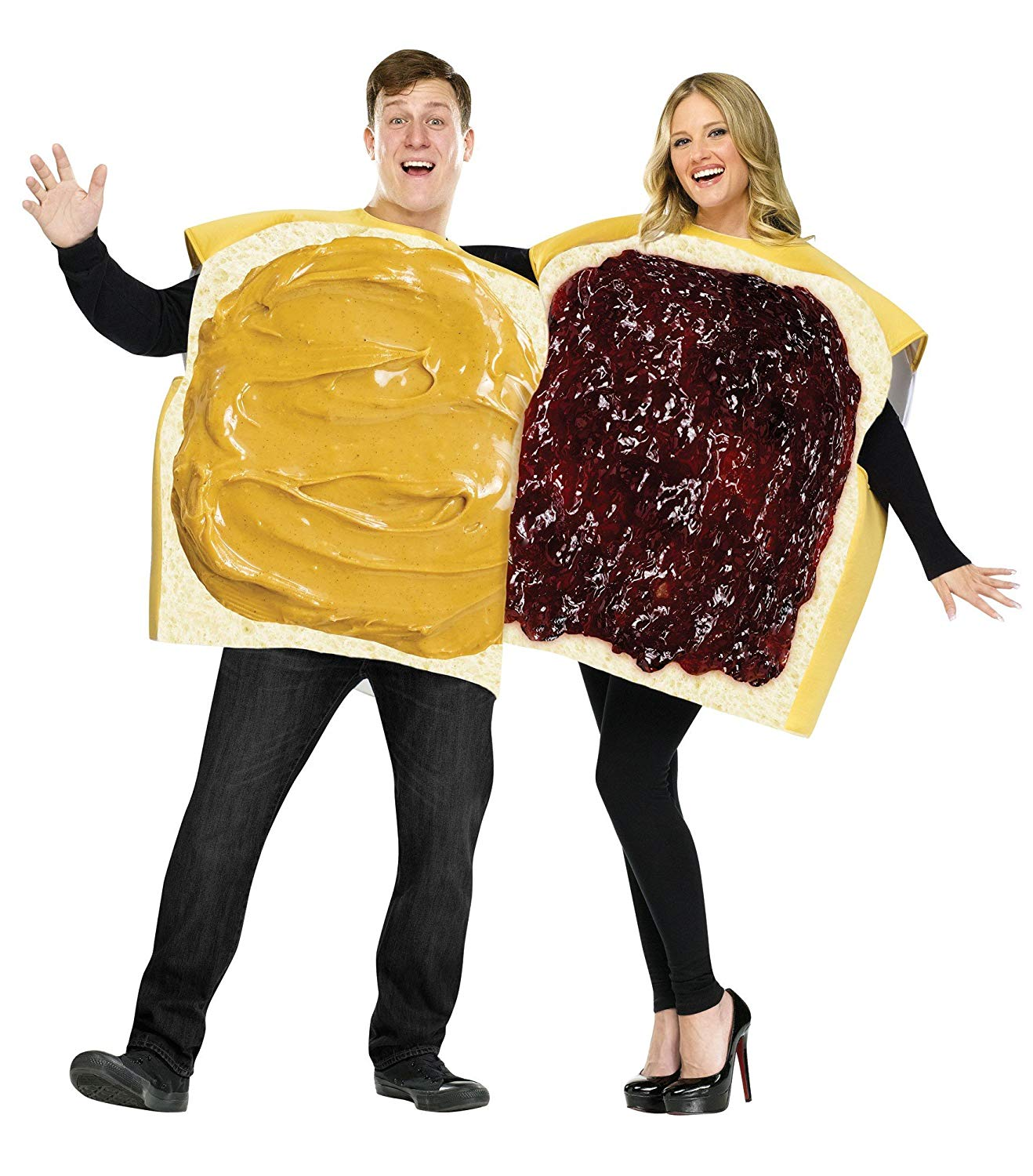 FunWorld Peanut Butter And Jelly Set, Tan/Purple, One Size - Couple Halloween Costumes