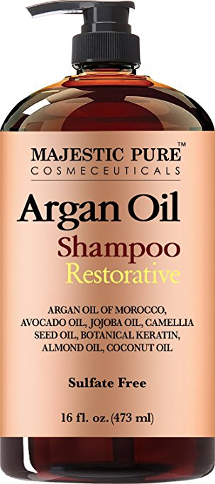 Majestic Pure Argan Oil Shampoo, Offers Vitamin Enriched Gentle