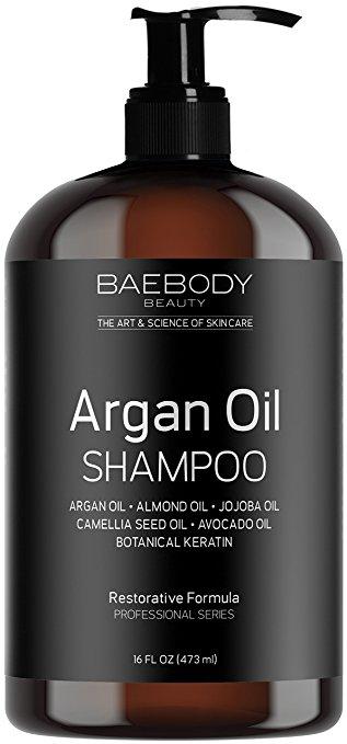 Baebody Moroccan Argan Oil Shampoo 16 Oz