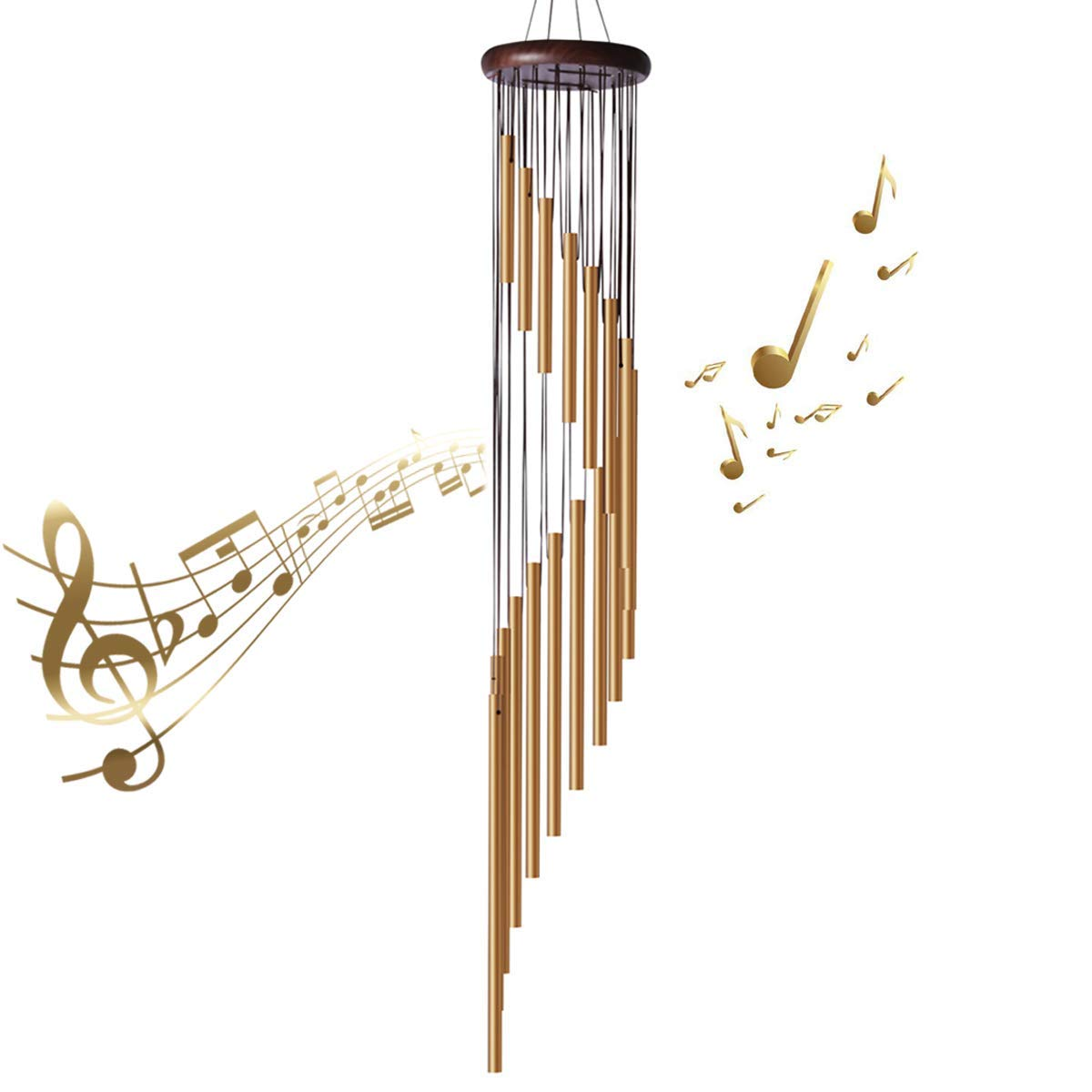 "35"" Large Wind Chimes - Amazing Grace Wind Chimes"