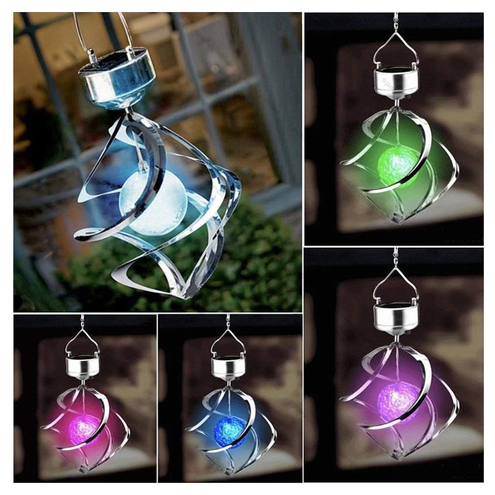 Solar Powered 7 Colors Changing Wind Chime by Meihuida