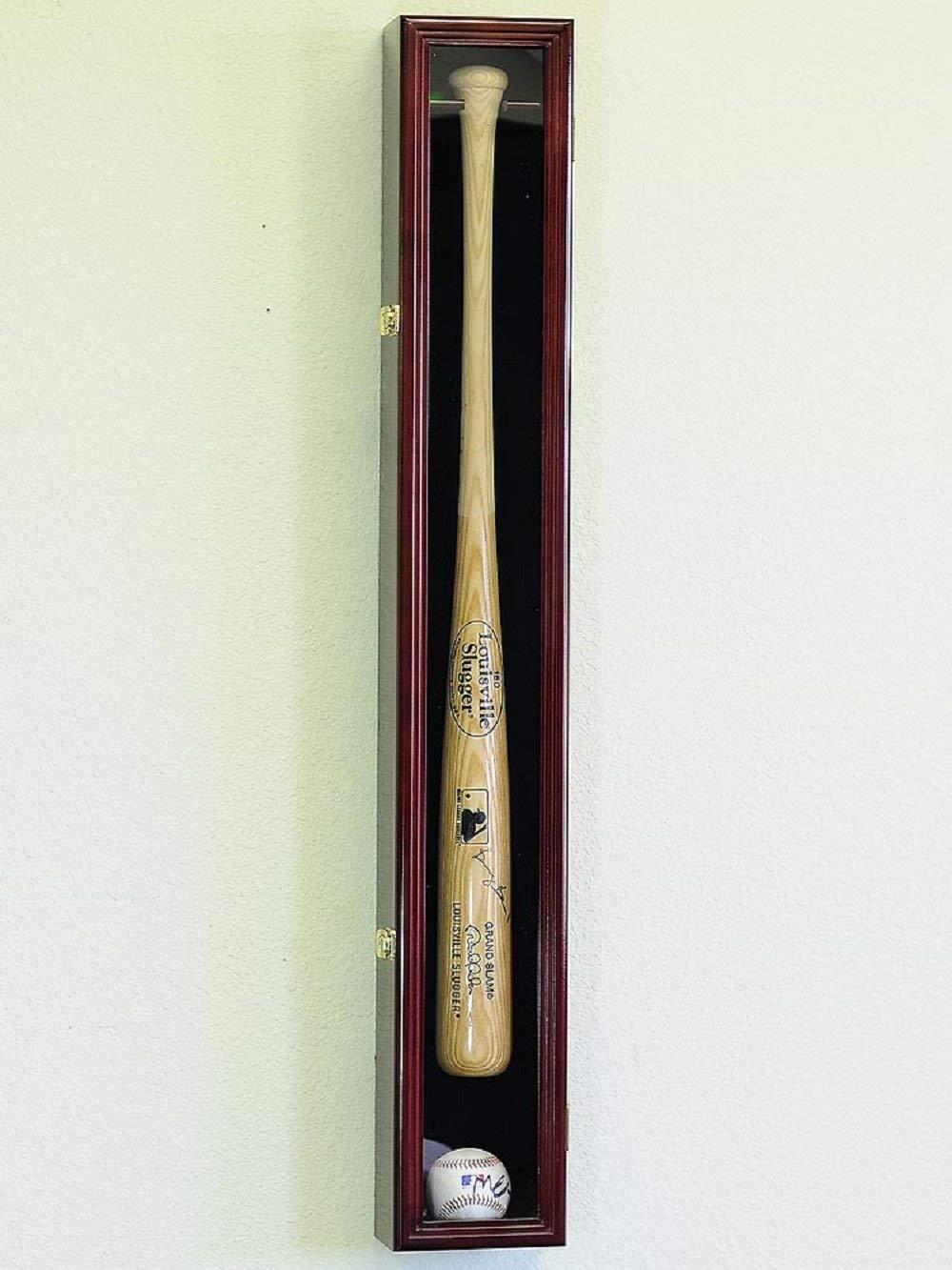 1 Baseball Bat Display Case Rack Cabinet Holder