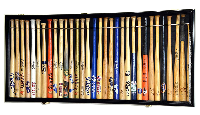 "Mini 18"" Baseball Mini Bat Display Case Cabinet Holder Rack w/98% UV"